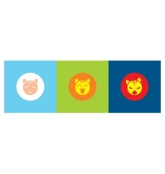 icons with the emotions of the cat vector image