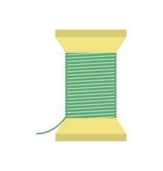 Thread bobbin flat icon vector