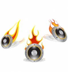 Hot loudspeakers vector