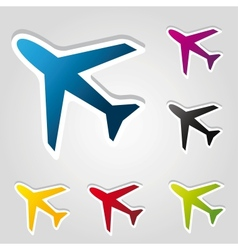 airplane stickers vector image