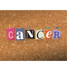 Cancer Concept vector image