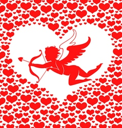 amur hearts round vector image vector image