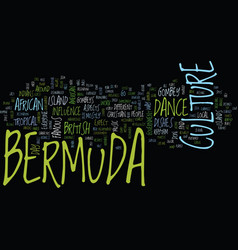 Bermuda geography text background word cloud vector