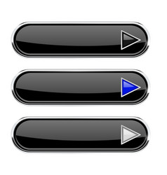 black buttons with arrows menu interface elements vector image vector image