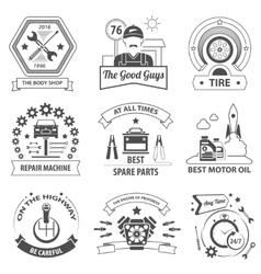 Car Service Label Set vector image