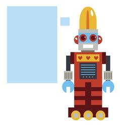 Card with retro robot vector