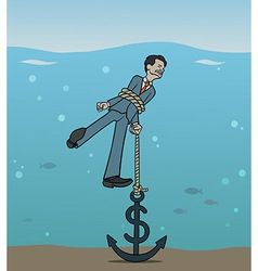 Dollar anchor vector