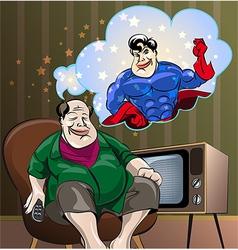 Dreams of the fat man vector image
