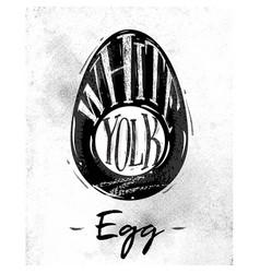 Egg cutting scheme vector