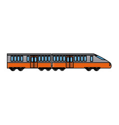 fast modern high speed train public transport of vector image