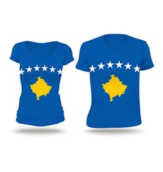 Flag shirt design of Kosovo vector image vector image