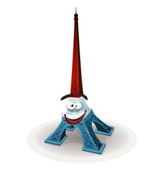 French eiffel tower character vector