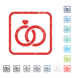 Gem rings icon rubber watermark vector