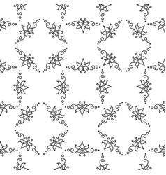 geometrical pattern flower vector image vector image