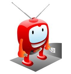 happy tv vector image vector image