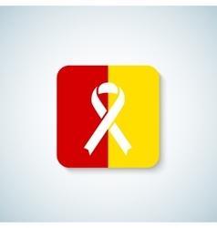 Hepatitis day ribbon icon sticker or badge vector