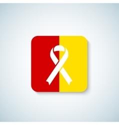 Hepatitis Day Ribbon Icon Sticker or Badge vector image