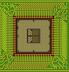 Modern computer processor chip vector