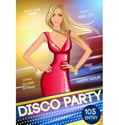 Night club party poster vector