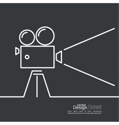Old movie camera vector image