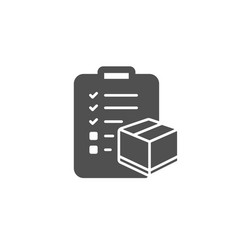 Parcel checklist simple icon logistics check vector