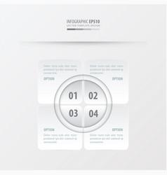 Rectangle presentation design white color vector
