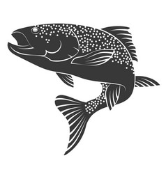 salmon silhouette vector image vector image
