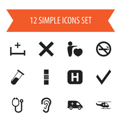 Set of 12 editable care icons includes symbols vector