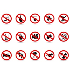 Set of prohibited sign vector