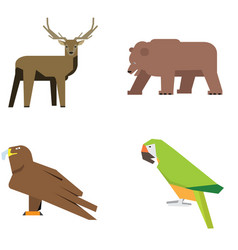 Set of zoo animals vector