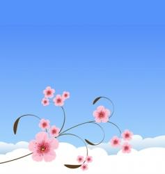Spring landscape vector image vector image