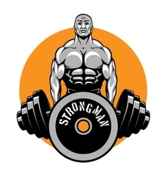 T-shirt design for bodybuilders and fitness vector image