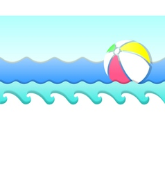 wave and ball vector image