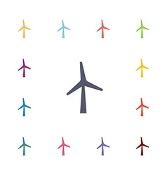 wind mill flat icons set vector image vector image