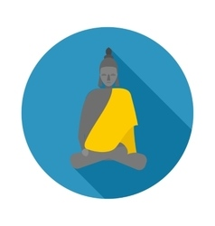 Buddha statue icon in flat style vector