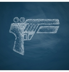 Gun game icon vector
