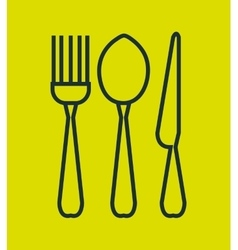Set cutlery isolated icon vector