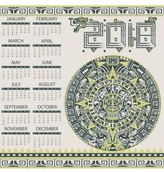 Calendar 2018 in aztec style vector