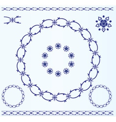 Set of rustic circle frames vector