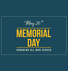 Background style of memorial day collection vector