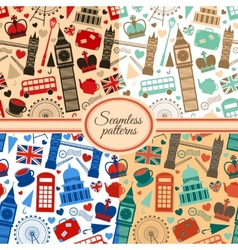 London seamless pattern set vector