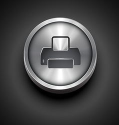 Printer metallic icon vector