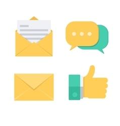Message symbols vector image