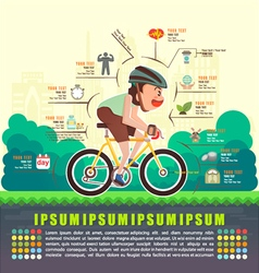 Benefits of cycling bicycle bicycle infographics vector