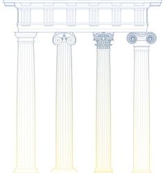 classic columns vector image