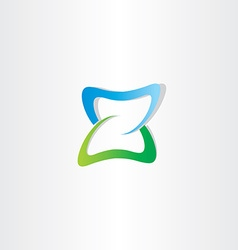 Green blue logotype z letter z icon vector