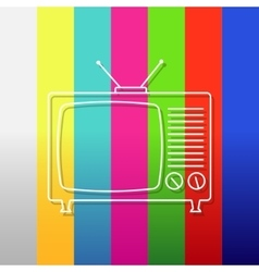 Abstract background with old tv vector