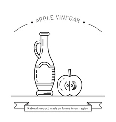 Apple vinegar sauce vector