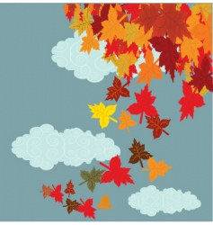 autumn print vector image vector image