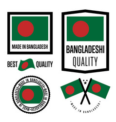 Bangladesh quality label set for goods vector